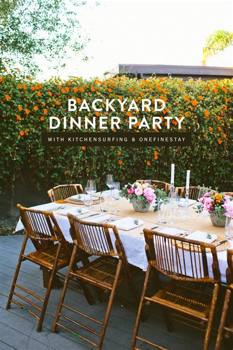 Backyard Dinner by D E S I G N L O V E F E S T 187 Backyard Dinner
