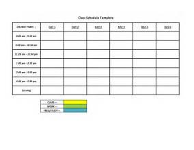 schedule c template free sle work schedule template school activities