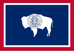 state colors wyoming state flag
