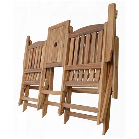 portable folding chair with table patio wise folding chair set with built in table acacia