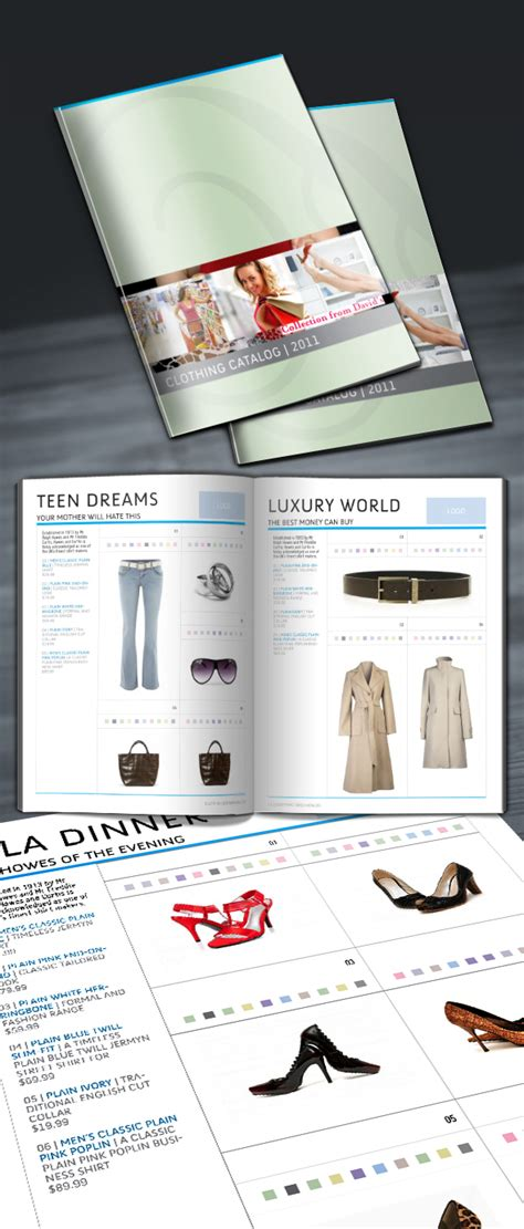 10 Beautiful Bestindesign Templates Creativeoverflow Clothing Catalog Template Free
