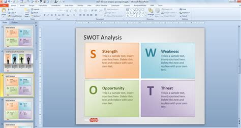 business plan powerpoint template free free business plan template ppt free swot analysis