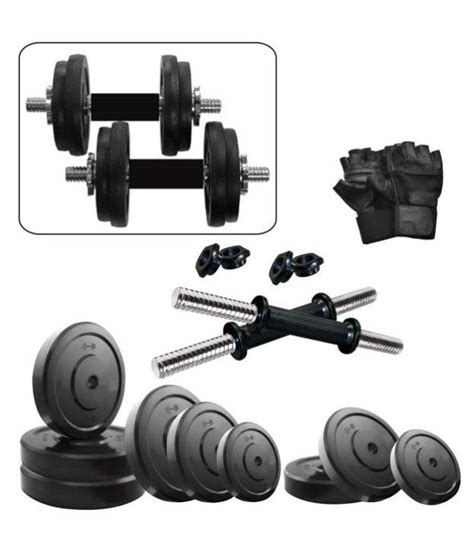 Dumbell Set 10 Kg fitzon 10 kg dumbbell set 2 5kg x 4 with gloves and dumbbell rods buy at best price on