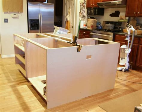 how to make kitchen island from cabinets easy diy kitchen island ideas the clayton design