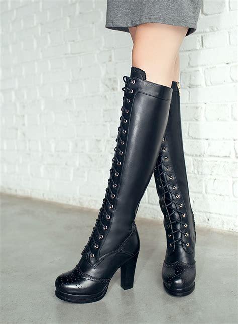 sheepskin genuine leather toe high heels fashion