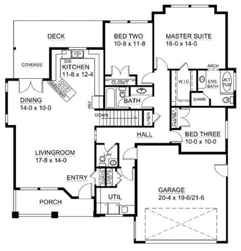 craftsman open floor plans craftsman style house plan 3 beds 2 5 baths 1625 sq ft