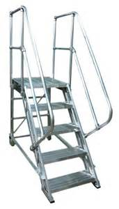 Rolling Stair rolling aluminum stairs metallic ladder manufacturing corp