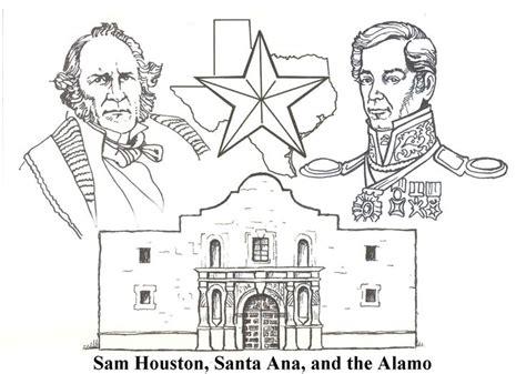 Santa Anna Coloring Page | sam houston santa anna and the alamo texas pinterest