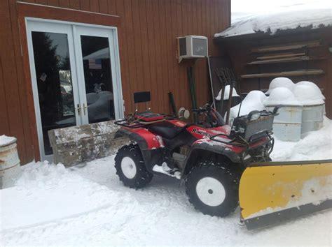 honda rancher snow plow 2006 honda foreman snowplow