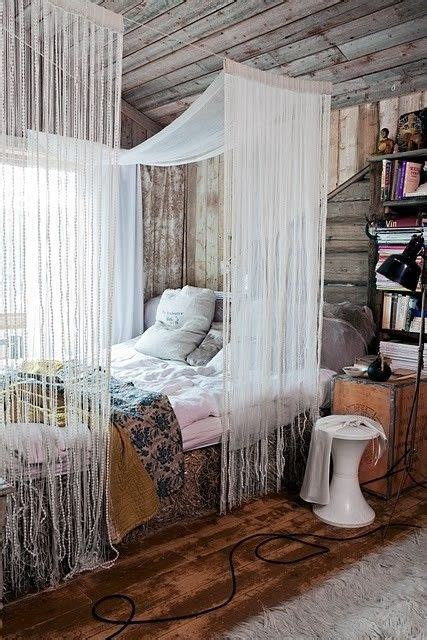 bohemian bed canopy beaded bed canopy ohhh lala pinterest amor hippies