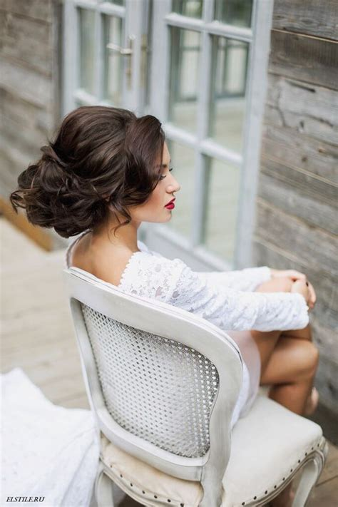 Diy Wedding Hairstyles With Bangs by Picture Of Chic Curled Updo With Side Bangs