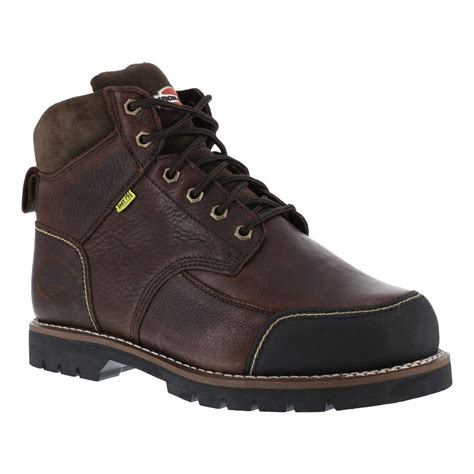 iron boots iron age ia0163 dozer mens brown 6 quot eh met guard