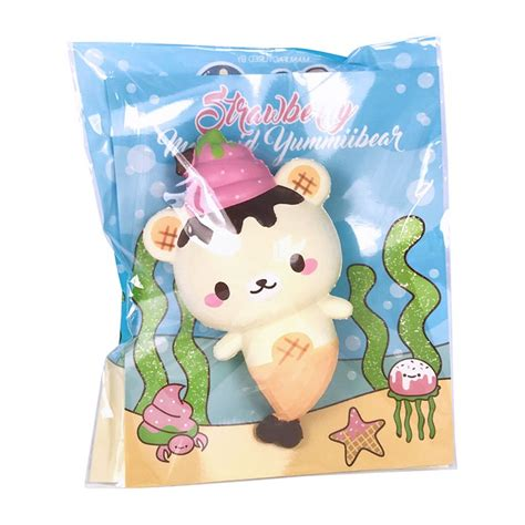 Yummiibear Panda Mermaid yummiibear mermaid strawberry squishy kawaii panda