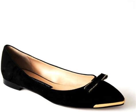 Connexion Flat Shoes connection gaia flat ballerina shoes in black lyst