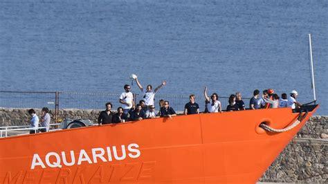 aquarius bateau position micro europ 233 en les migrants de l aquarius l italie