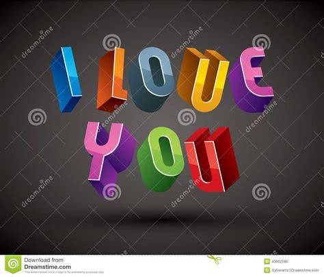 ti amo lettere ti amo frase fatta con le lettere geometriche di retro