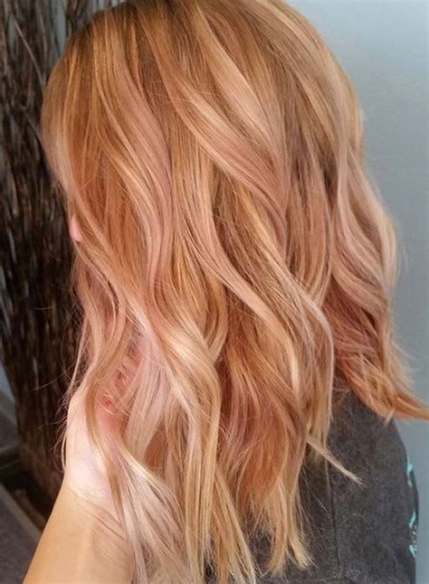 medium length hairstyles for straight hair rose gold layered bob rose gold hair colors for medium length hairstyles 2017