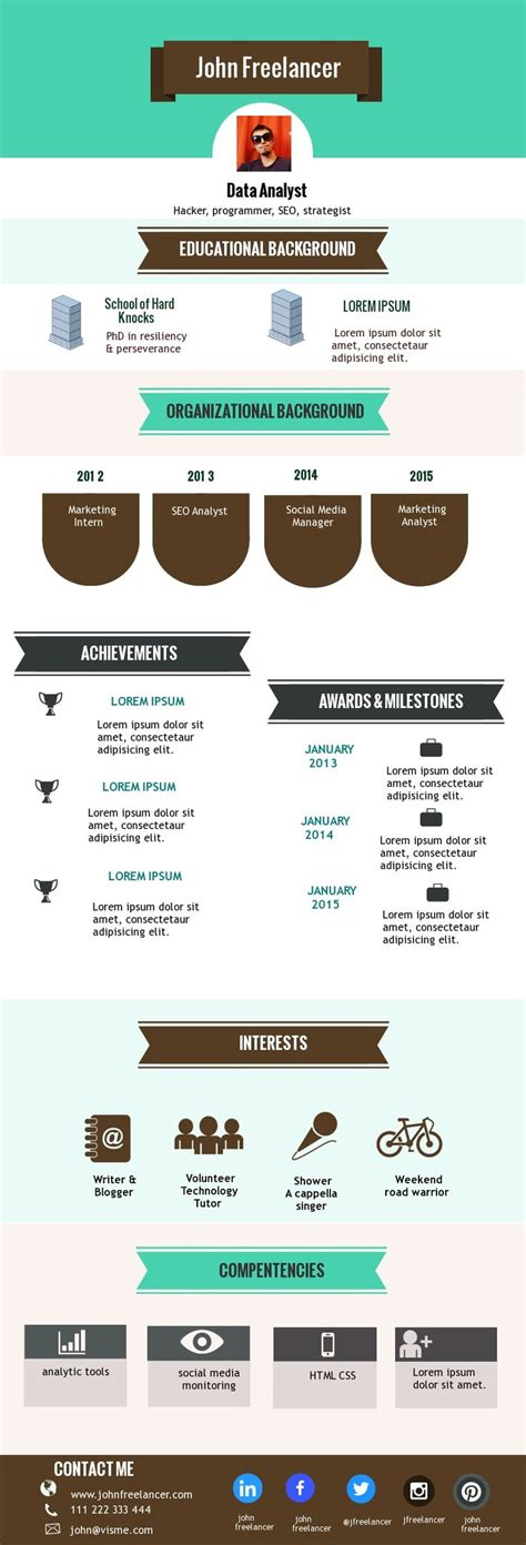 infographic resume template 1212 best infographic visual resumes images on