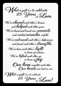 16 Best 25th Anniversary quotes images in 2017