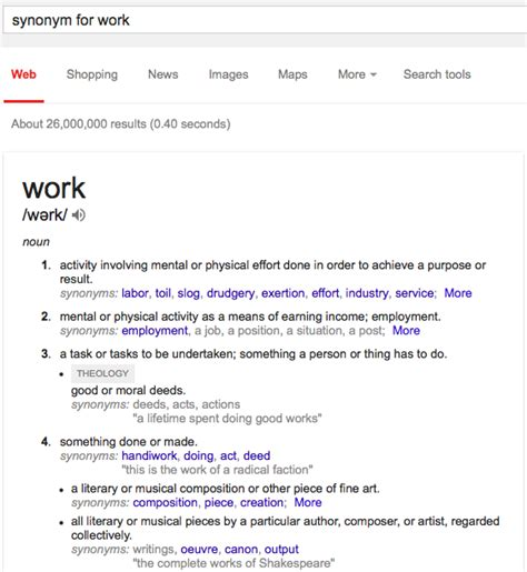 Office Synonym by Related Keywords Suggestions For Synonym Work