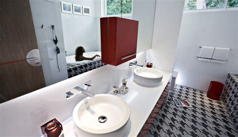 red bathroom suite luna 2 private hotel bali luxury private villas