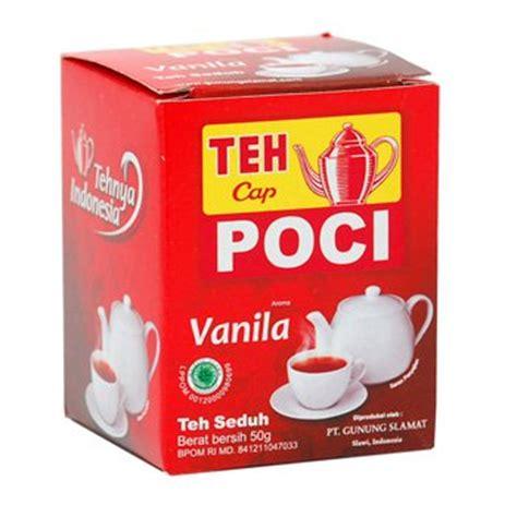 Es Teh Poci teh seduh rasa vanila cap poci brewed tea vanilla