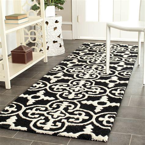 ivory and black rug safavieh cambridge black ivory wool contemporary area rug cam133e ebay