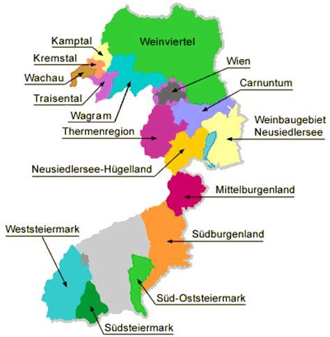 austria regions map austria wineries nat decants