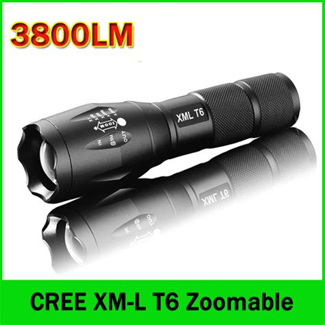 Senter Tactical Flashlight Cree Xm L T6 9000 Lumens 3 Modes Led Torch aliexpress buy led flashlight 3800 lumens tactical