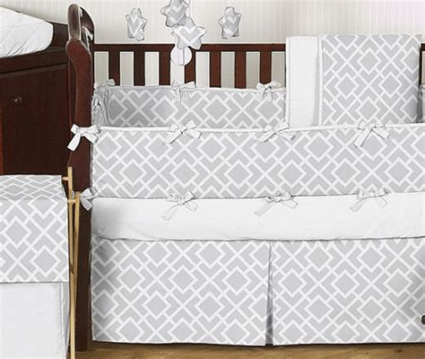 Contemporary Crib Bedding Jojo Designs Gray White 9 Crib Bedding Set Contemporary Baby Bedding By