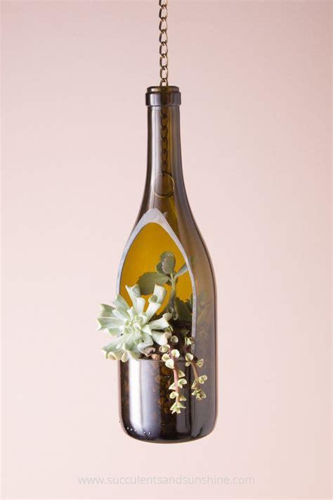 Wine Bottle Planters by 25 Best Ideas About Wine Bottle Planter On