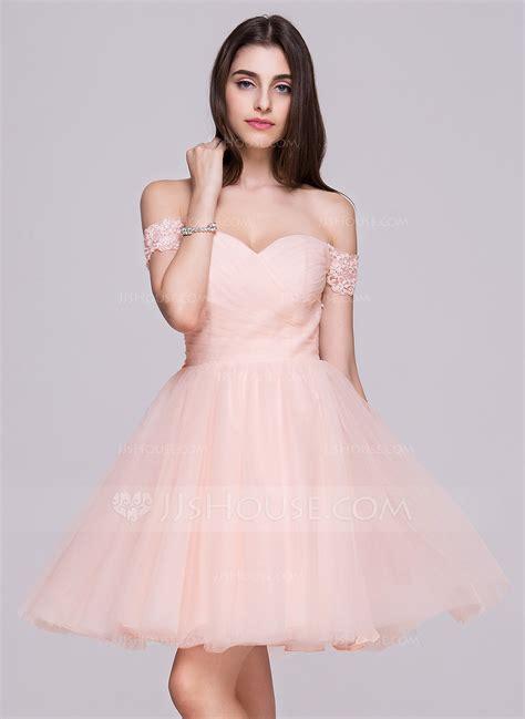 Mini Tulle Dress a line princess the shoulder mini tulle prom