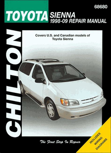 service manuals schematics 2012 toyota sienna auto manual toyota sienna minivan repair manual 1998 2009 chilton 68680