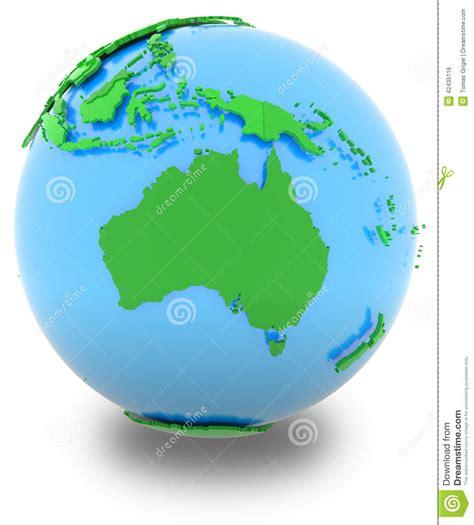 world map globe l shade australia on the globe stock illustration image of