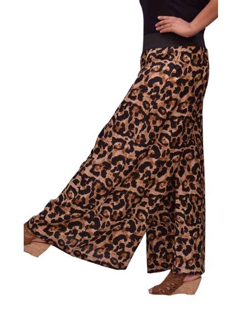 big animal print womens palazzo pants ssp