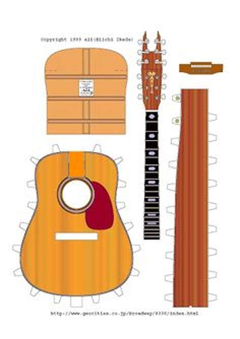 How To Make A Paper Guitar That Works - 1000 images about miniature musical stuff on