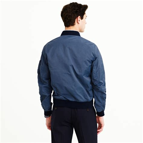 Jacket Bomber 2 j crew wallace barnes a 2 bomber jacket in blue for abyss blue lyst