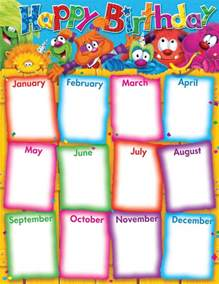birthday chart template for classroom 23 birthday list templates free sle exle format