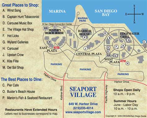 seaport map seaport is a bay front shopping dining