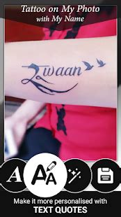 online tattoo name editor tattoo name on my photo editor app report on mobile action