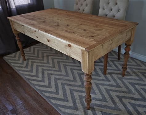 white small style farmhouse dining table
