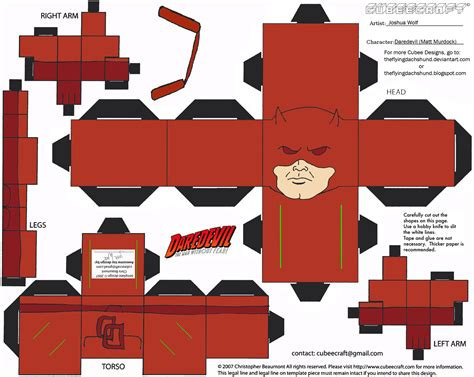 Marvel Papercraft - marvel 1 daredevil cubee by theflyingdachshund on deviantart