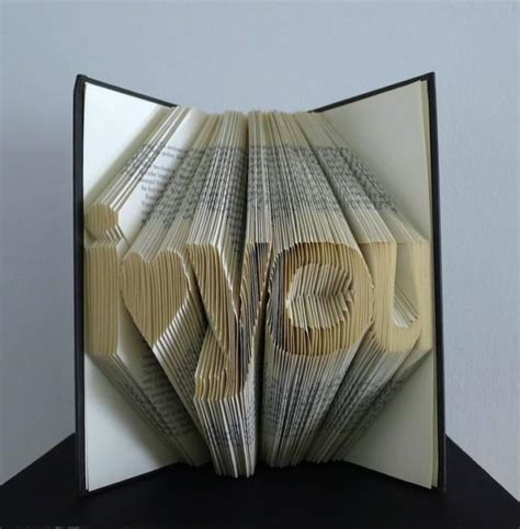 Paper Fold Book - folded book pages sculputes by luciana frigerio