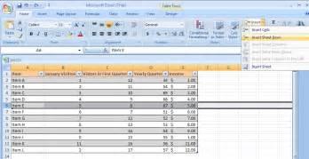 insert a row or column table row column 171 table