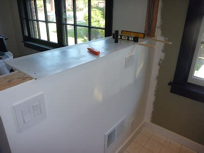half wall bar top my stupid house building a sturdy half wall bar top