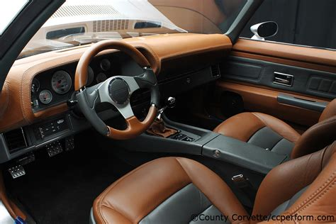 Brown Leather Interior Car by 70 Camaro Silver Grey Custom Leather Brown Charcoal Black