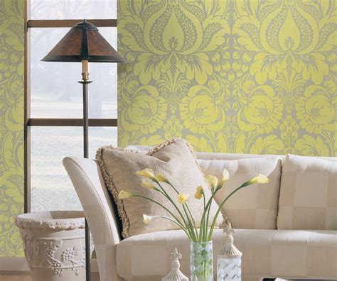 green wallpaper for feature wall shand kydd traditional living room other metro by