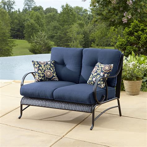 la z boy outdoor furniture sale la z boy outdoor avery loveseat blue outdoor living