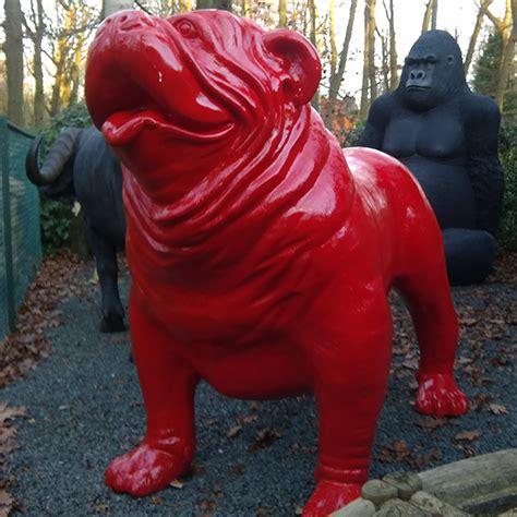 Lackieren Auf Englisch by Statue Xxl Lackiert Rot Englisch Bulldog Jardinchic