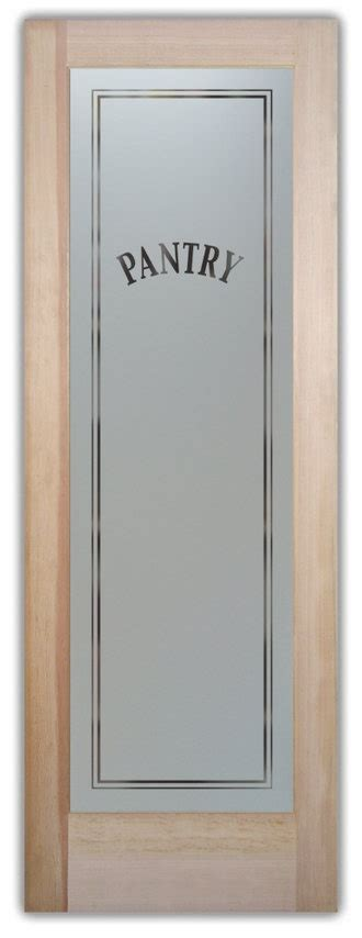 Frosted Glass Pantry Door Etched Frosted Glass Pantry Door Kitchen